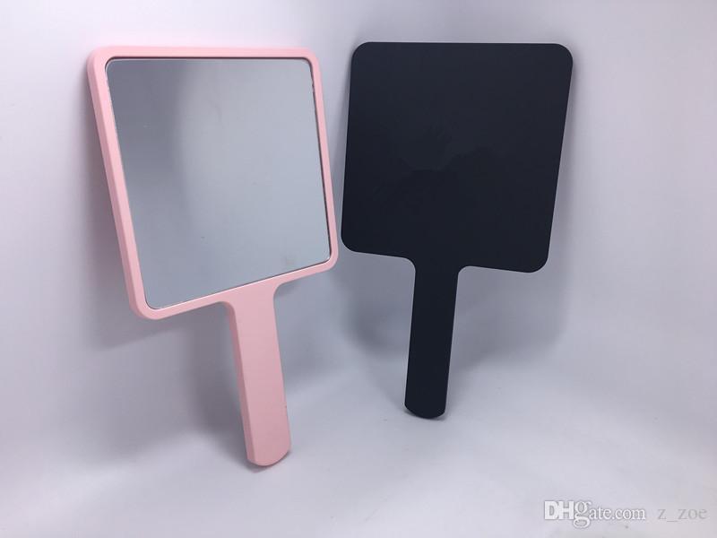 Best Square Shape One Side Regular Glass Hand Held Mirror Makeup Pocket  YZ87