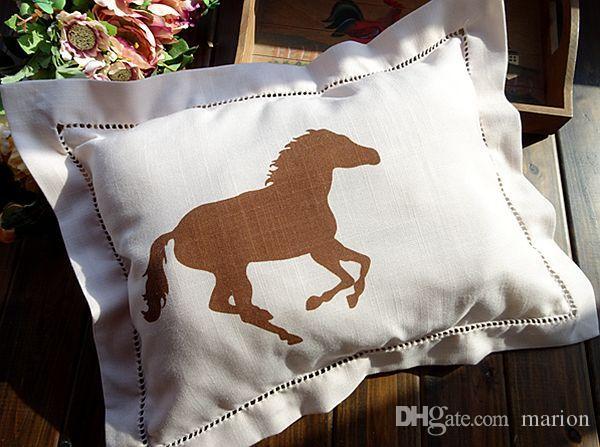 Federe Cuscini 30x30.Acquista 30x30 Cm 28x38 Cm Piccolo Colore Beige Cavallo Stampato