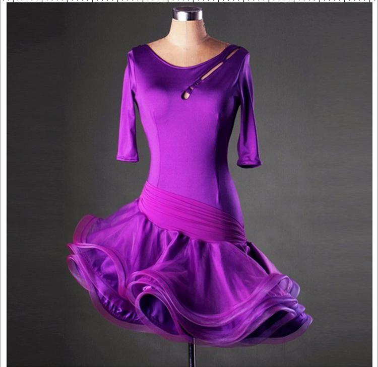 Women/Girls Latin Dance Dress 2017 Cha Cha/Rumba/Samba/Ballroom Dancing Dancewear Fitness Clothes Lady/Kids Dance Costume FN107