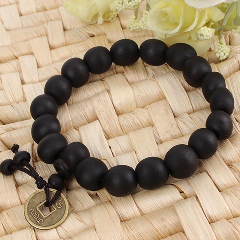 Gros-Nouveau Bouddhiste Tibétain Bouddha Bracelet Hommes Perles De Prière Naturel À La Main Bracelet Bracelet Ornement de Poignet En Bois Bouddha Perle Femmes