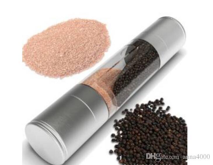 Pepper Grinder 2 in 1 in acciaio inox manuale Salt Pepper Mill Grinder Spice Utensili da cucina Accessori per la cottura