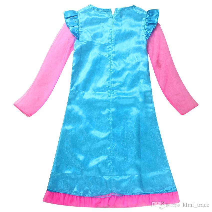 Online Cheap Hot Newly Trolls Poppy Princess Dresses Girls Party ...