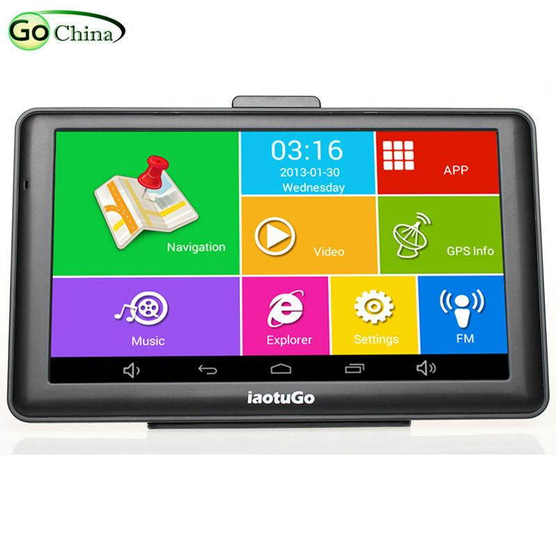 """7"""" Android GPS MTK8127 CPU,Quad Core Car Truck Navigator,IPS Capacitive,Bluetooth wifi,8G,512M,AV-in,Truck Map Free Updated"""