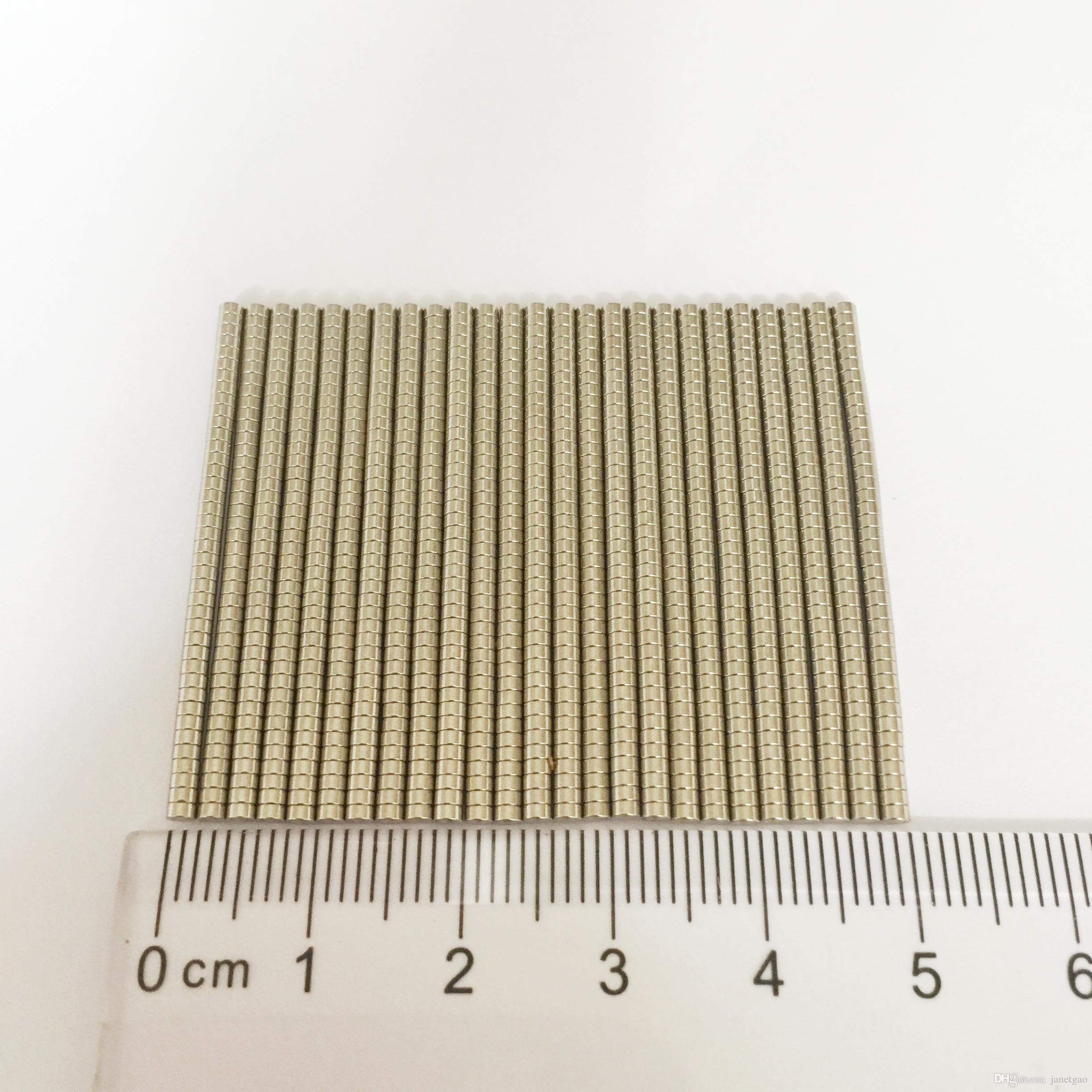Mini small Disc Rare earth Magnet Neodymium super Strong Permanent Magnet Neo 1000pcs/pack Dia2x1mm craft tiny magnetic mateirals