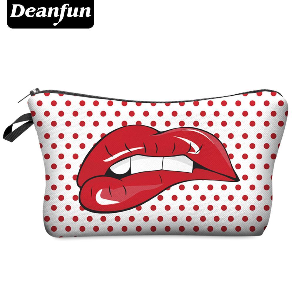 Atacado-Deanfun Fashion Brand Cosmetic Bag 2017 Hot venda mulheres viagem maquiagem caso H14