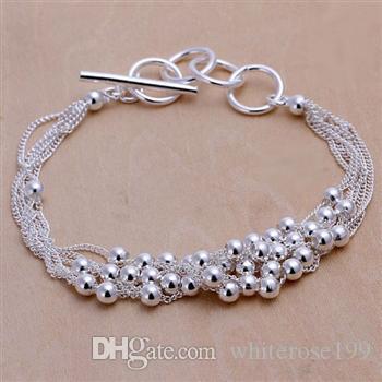 Wholesale - Retail lowest price Christmas gift, free shipping, new 925 silver fashion Bracelet yB101