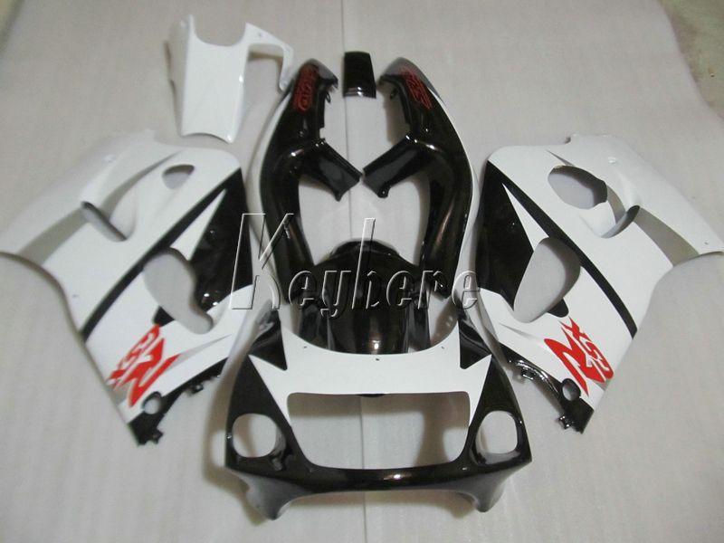 Suzuki GSXR600 için motosiklet parkura kiti 96 97 98 99 beyaz siyah taklit takımı GSXR750 1996-1999 OI04
