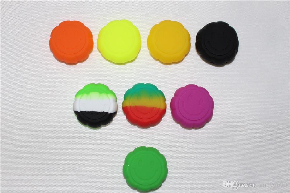 MOQ = 500 pcs 6 ml desig FDA aprovado Non-stick Silicone Recipiente Para O Óleo de Cera Bho Butano Vaporizador Silicon Jars Dab Wax Recipiente