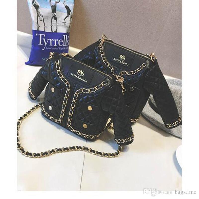 أزياء حقائب الكتف شخصية مضحكة حقائب سلسلة الملابس السوداء Crossbady مستحضرات تجميل حقائب اليد التصميم الجديد شحن مجاني