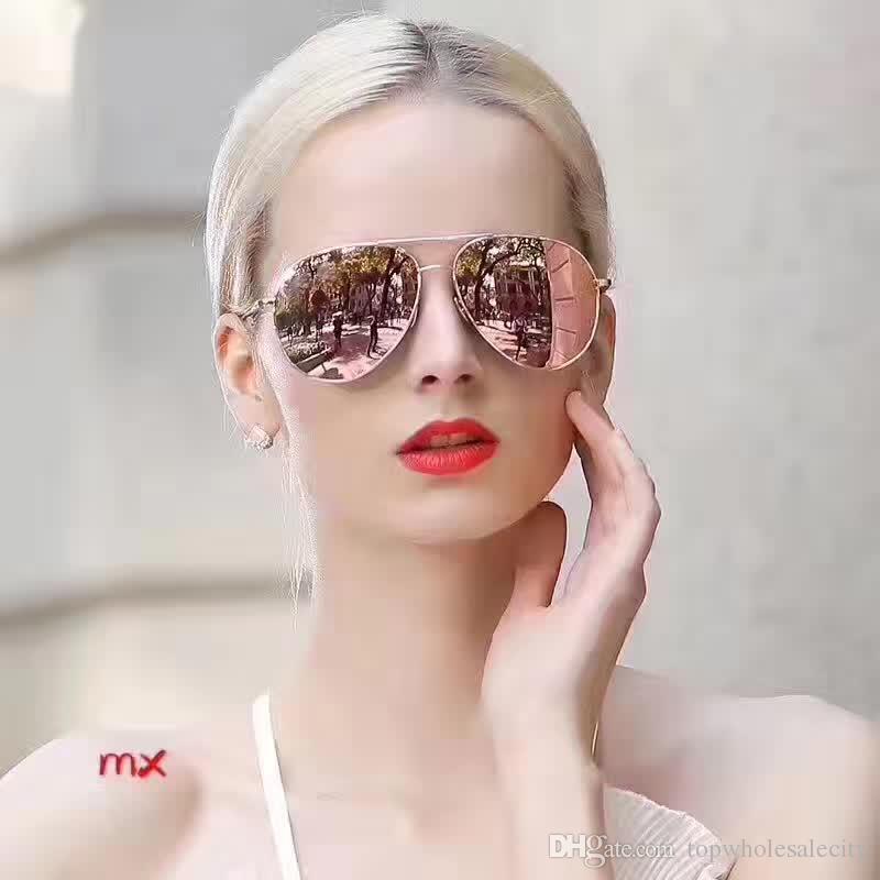 Europäische Stil Paar Modelle Sonnenbrille hochwertige Material Designer Sonnenbrille Reisen Sonnenbrille High-End-Marke mit Box
