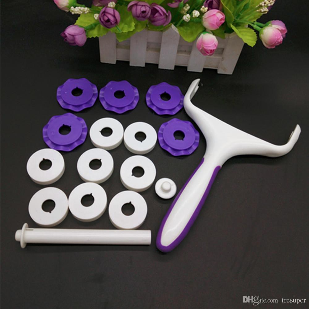리본 스트립 Fondant 쿠키 커터 설탕 공예 플라스틱 케이크 장식 도구 홈 주방 케이크 롤링 베이킹 도구