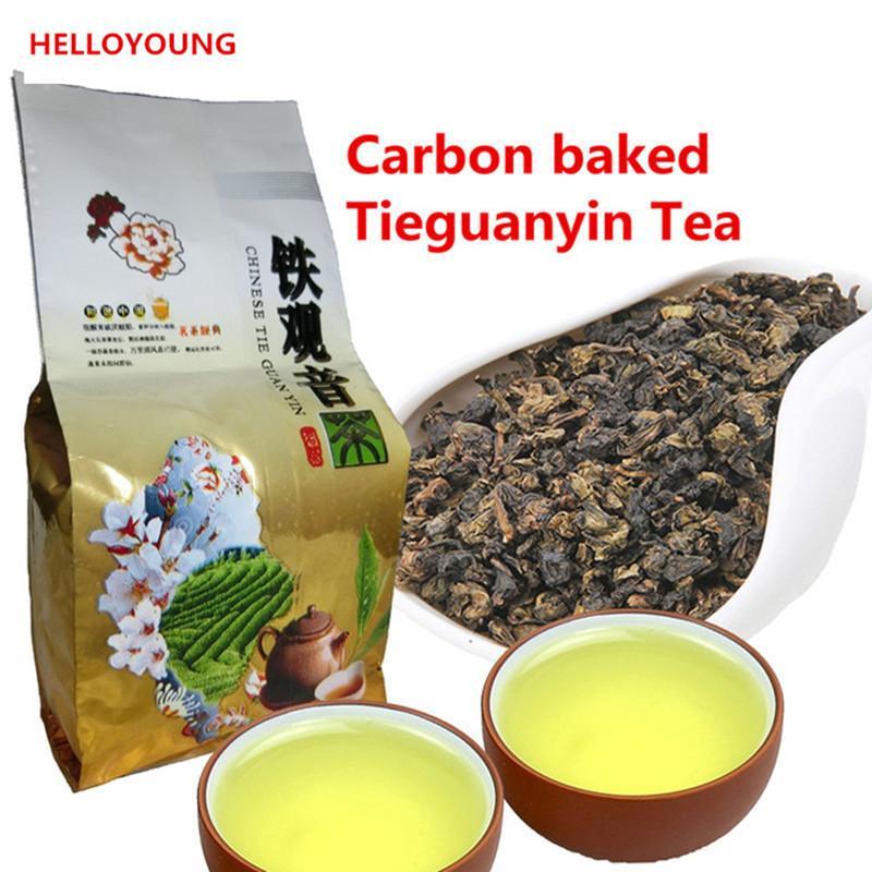 Health Care 50g Promoção chinês Oolong chá orgânico fresco Natural carbono Specaily TiKuanYin Oolong Tea Green New Spring Green Food Tea