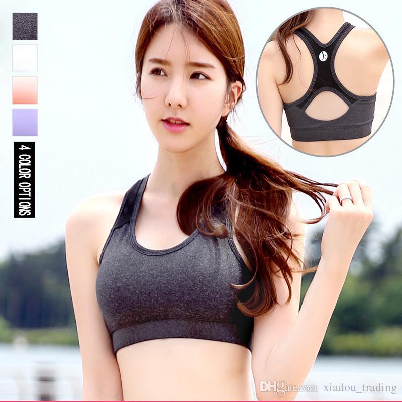 Livraison gratuite Yoga Soutien-gorge Femmes Formation Sexy Push Up Soutien-gorge sport Tops Vest Running Dry rapide Gym Femme Femme Brassiere gros