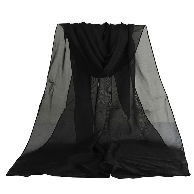 Оптовая Продажа-Мода Шифон Шелковый Мягкий Солнцезащитный Крем Мягкие Шарфы Банданы Гаса Спринт Мусульманский Хиджаб Бандана Маска Для Лица Для Женщин
