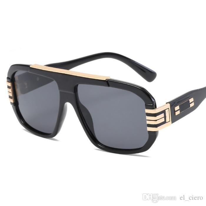 EL CIERO Alta Qualidade Quadrados Óculos De Sol Para Homens Mulheres Retro Moda Verão Óculos de Sol Unisex Marca Designer Shades UV400