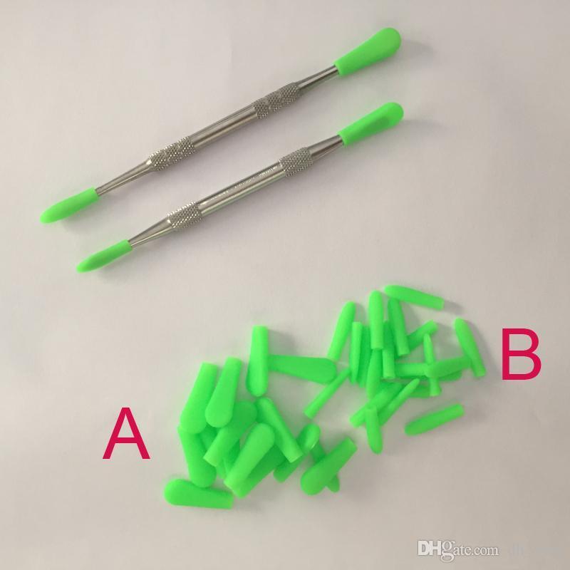 Оптовая силикагель cap воск dabber крышка инструмента крышка Cap banger ногтей стекло водопроводной чистой подсказка травяные испаритель ручка силикагель