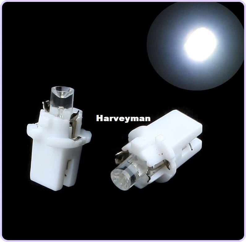 T5 B8.5D 자동차 LED 표시 등 게이지 Speedo 대시 보드 측면 인테리어 램프 자동차 LED 전구 10PCS / lot