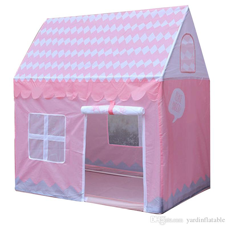 Children Beach Tent Girl Lovely Pink Play Game House Ocean Ball Tent Princess Castle Indoor Outdoor Toys Tent D171