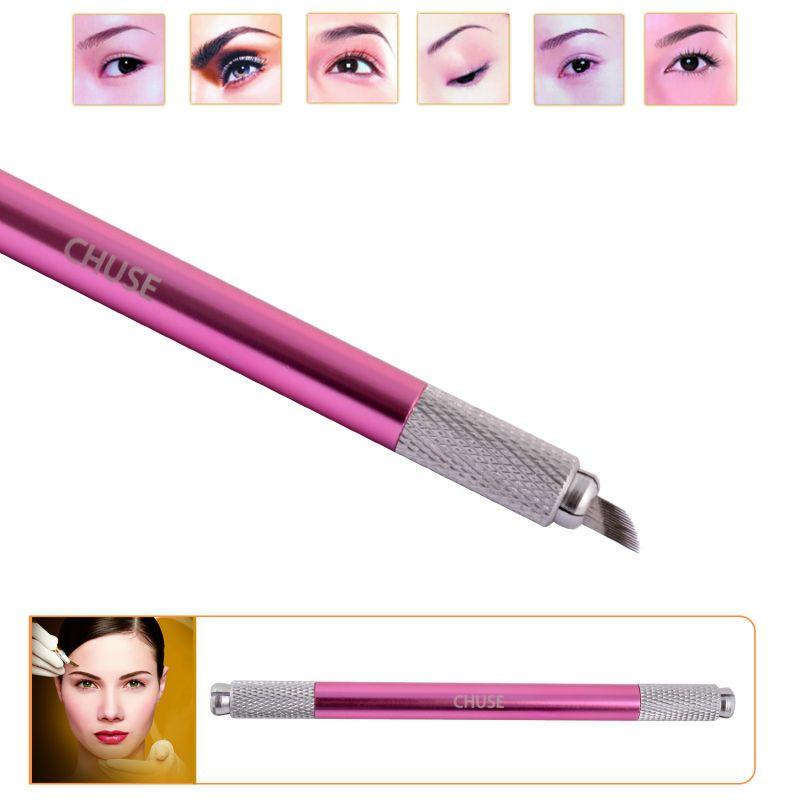 Marke M6 Augenbraue Microblading Manuelle Stift Permanent Make-Up Maschine Tattoo Set Beide Kopf Verwendet werden
