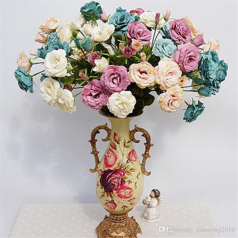 """Sahte Platycodon Grandiflorum Çiçekler 68 cm / 26.77 """"Uzunluk DIY için Yapay Erik Çiçek Gelin Buketi Aksesuarları Ekran için Çiçek"""