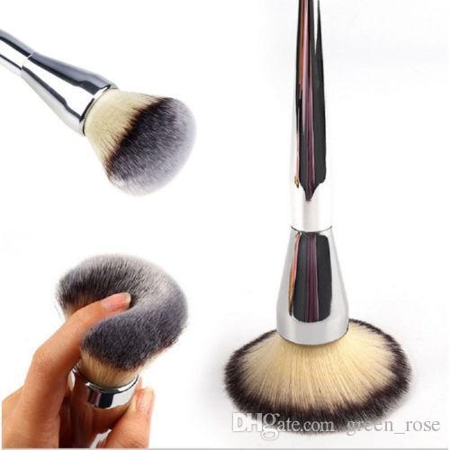 Beauty Powder Brush Blush Foundation Round Make Up Tool Cosmetics Aluminum Brushes Soft Face Makeup