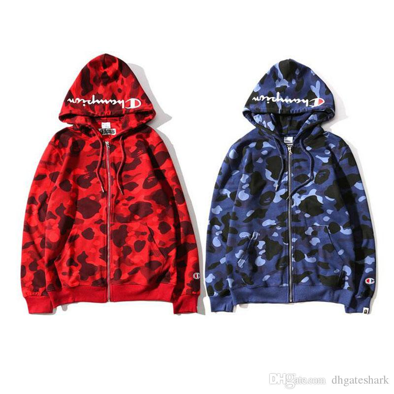 e6e26e4465478 Hot Men's Camo Hooded Sweater Couples Camouflage Spotted Hooded Jackets Hit Color  Sweatshirt Jacket Street Fashion Jacket Tops