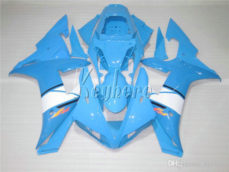 Kostenloses Verkleidungsset für Yamaha YZF R1 02 03 Himmelblau Verkleidungsset YZF R1 2002 2003 OI57