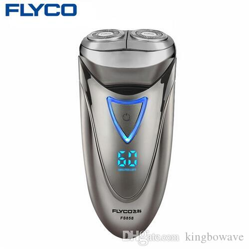 FLYCO professional Electric Shavers for Men Waterproof Rechargeable Shaver Razor LED Power Display 1 Hour Fast Charge 220V FS858