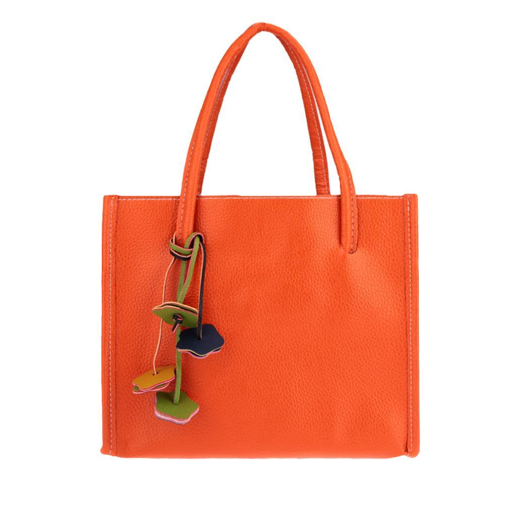 Großhandels- Neue Art- und Weisefrauen-Beutel-PU-lederne feste Süßigkeit-Farben-Schulter-Beutel-Handtaschen-Blumen-hängende Taschen-Reißverschluss-beiläufige Frauen-Einkaufstasche