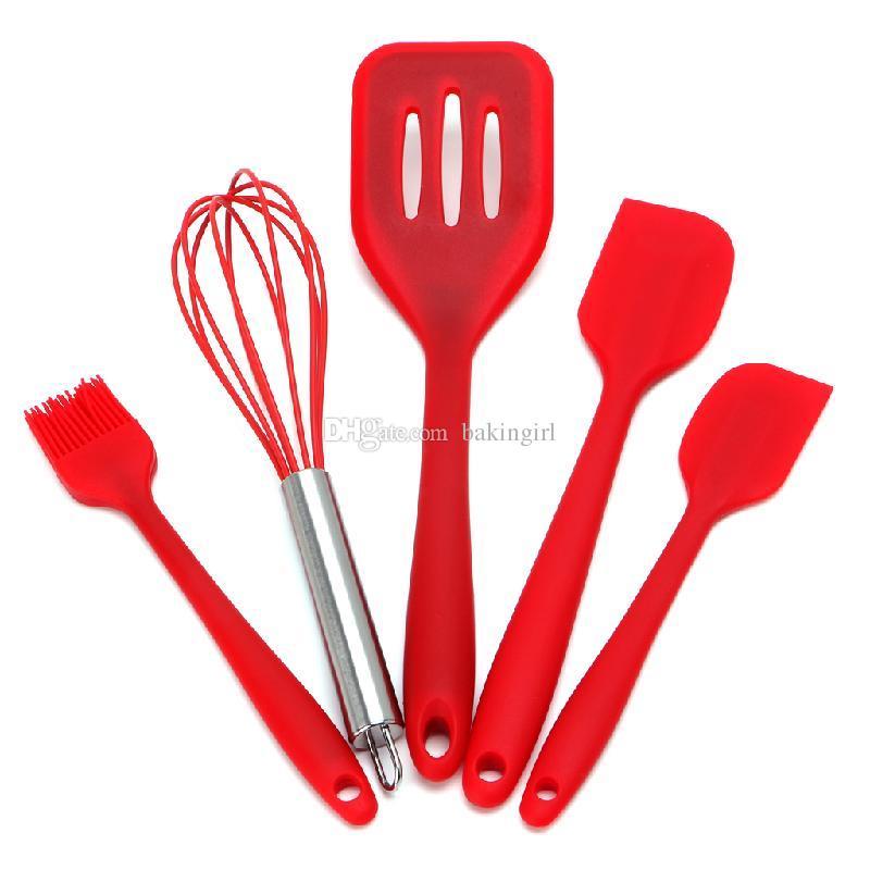 2019 Cooking Tool Set Food Grade Nylon Non Stick Kitchen Utensils Set Green  Black Red Choose Free Heat Resistant Cooking Utensil Set From Bakingirl, ...