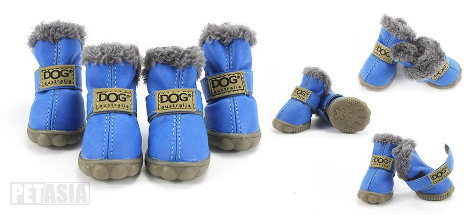 PETASIA Pet Dog Shoes Winter 4pcs set Small Medium Dogs Boots Cotton Waterproof Anti Slip XS XL Shoes for Pet Product ChiHuaHua select_960px colors blue