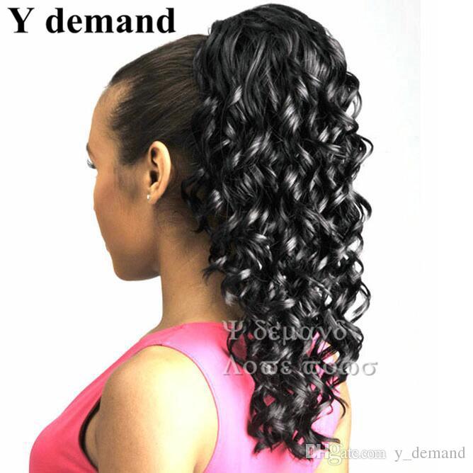 Black Long Fake Ponytails Fashion Hair Accessories