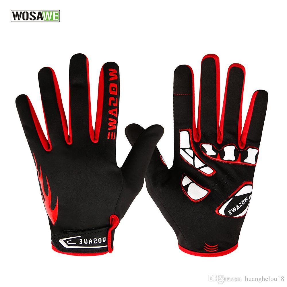 WOSAWE-Winter-Vlies-thermische windundurchlässige Sport-Handschuhe, die, Ski radfährt, wandernde Screen-Motorrad-laufende volle Finger-Handschuhe BST-013