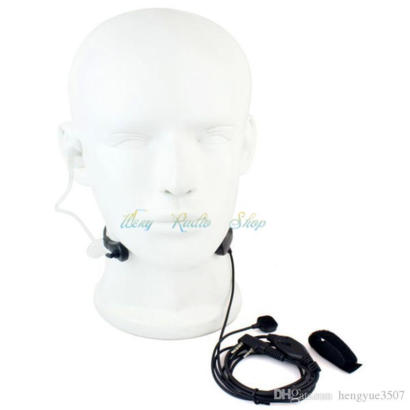 Talkie-walkie Casque 2 Pin gorge Mic Air Tube oreille Oreillette Mic pour radio à deux voies Baofeng UV-5R BF-888s UV-82 UV-5RE