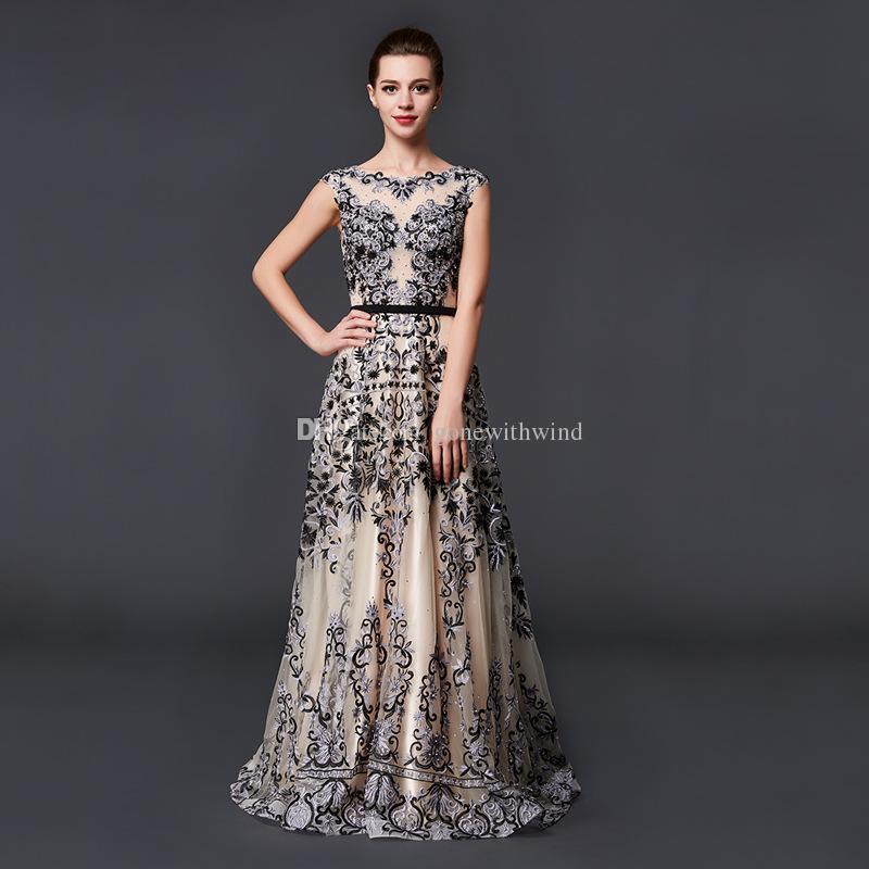 Model Pictures Saudi Arabia Middle East Black Lace Evening Dresses ...