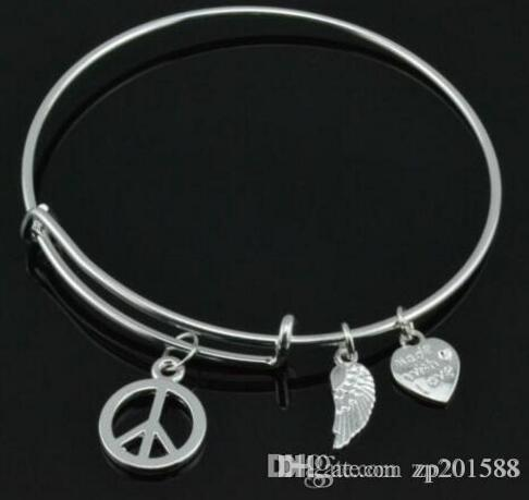 My Shape Fashion I Love Football Wire Bracelet Bangle Birthstone and Helmet Charm Jewelry Gifts for Sports