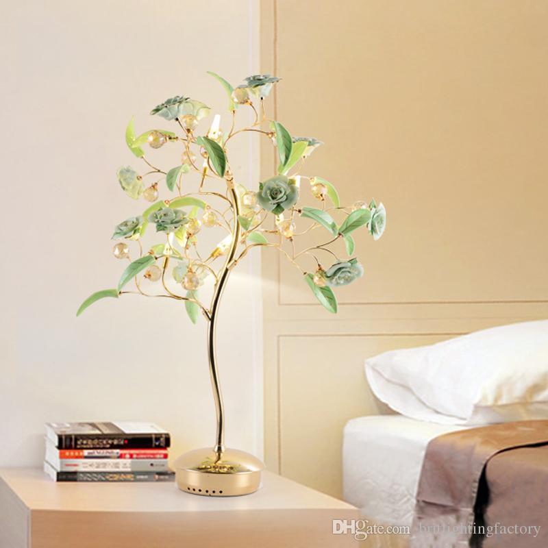 moderno salotto semplice lampada da tavolo tavolino decorazione luci regalo creativo Lampada da tavolo in cristallo lampada da tavolo in stile europeo