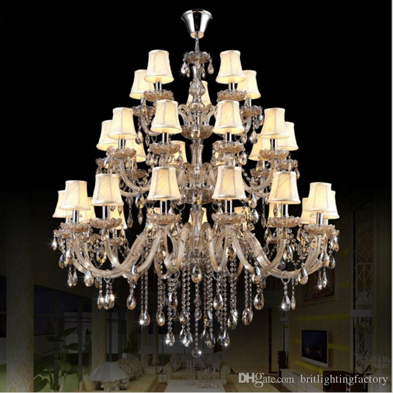 chrome chandelier with shades modern led chandelier lights indoor lighting large chandelier for hotels interior lamp hotel hall pendant lamp