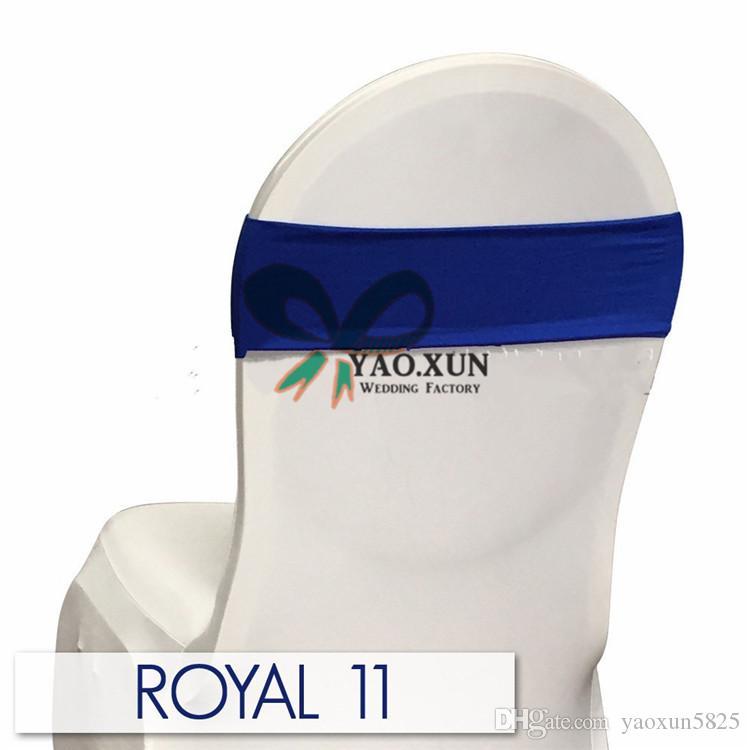 طبقة الأزرق الملكي لون واحد دنة كرسي ليكرا فرقة الزفاف للحصول على غطاء كرسي