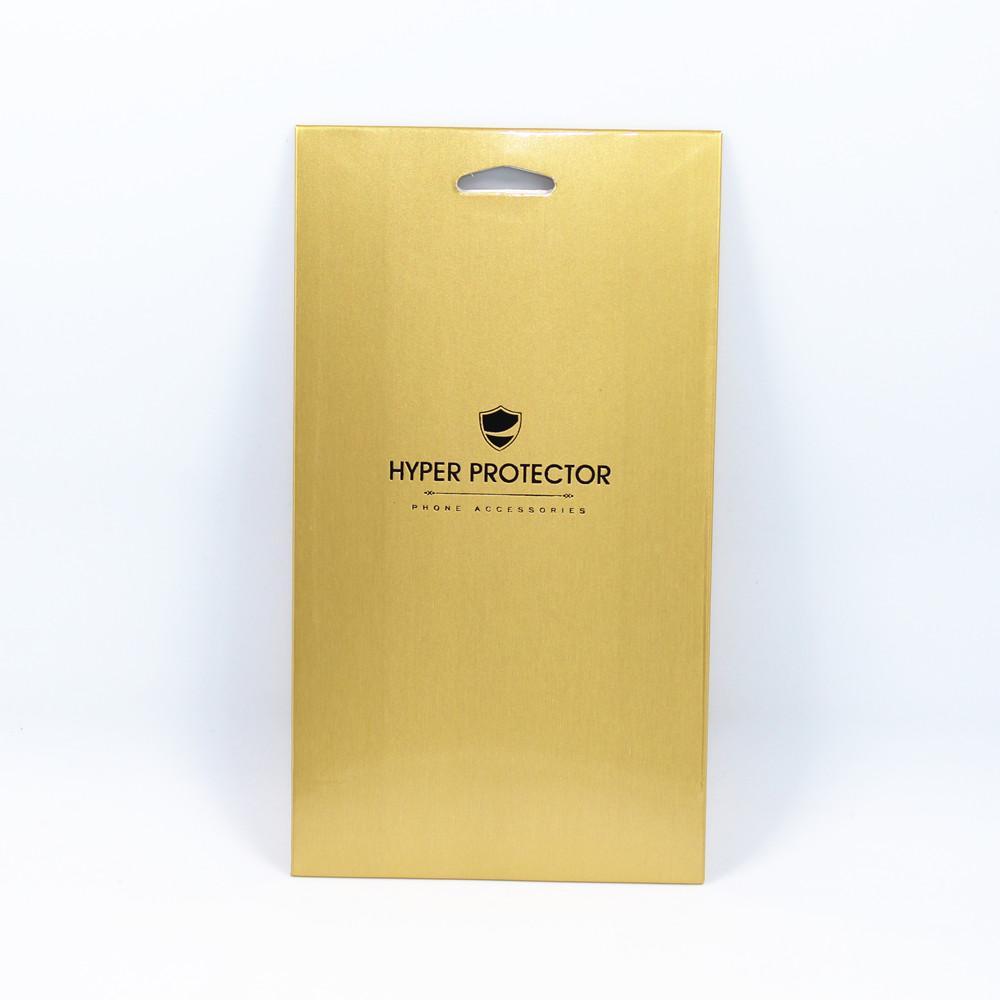"""25 Teile / los Gold 10 * 18 cm Einzelhandel Handy Displayschutzfolie Papier Karton Paket Box 3,9 """"x 7,1"""" Telefon Filme Verpackung Fall"""
