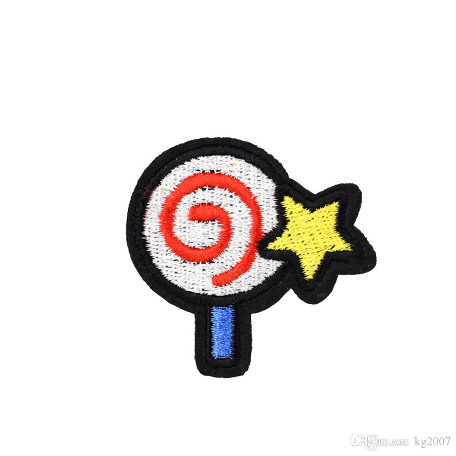 10 PCS Cute Lollipop Embroidered Patches for Kids Clothing Iron on Transfer Applique Patch for Jeans DIY Sew on Embroidery Badge Sticker