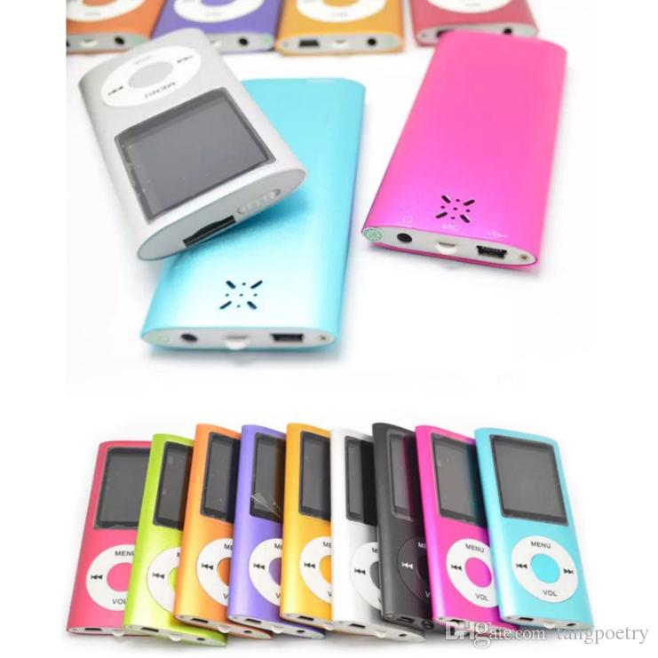 50X Player Slim 4TH 1.8 inch Screen 4th mp3 mp4 Player with card slot FM radio Voice Recorder 9 colors USB Cables+Earphones+Retail Boxes DHL