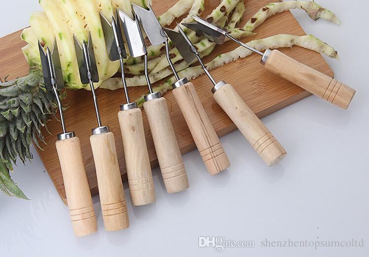 Ananas peeler corer slicers cutter lätt ananas kniv frukt sallad verktyg