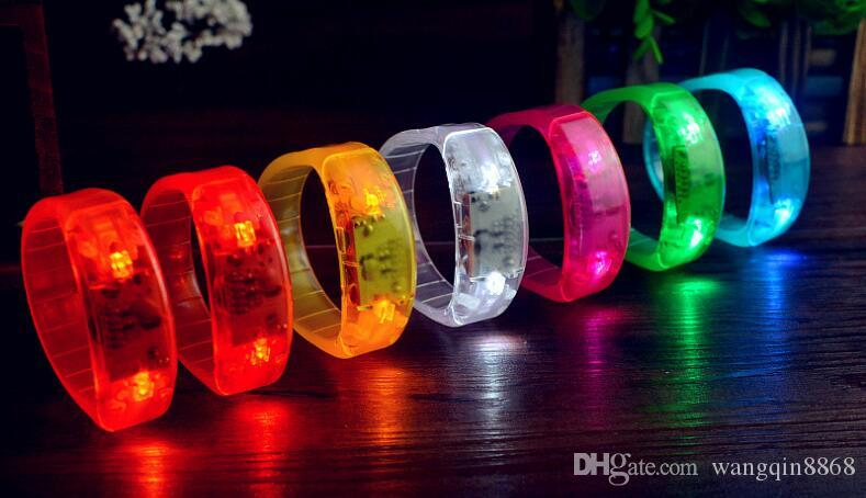 Music Activated Sound Control Led Flashing Bracelet Light Up Bangle Wristband Night Club Activity Party Bar Disco Chee
