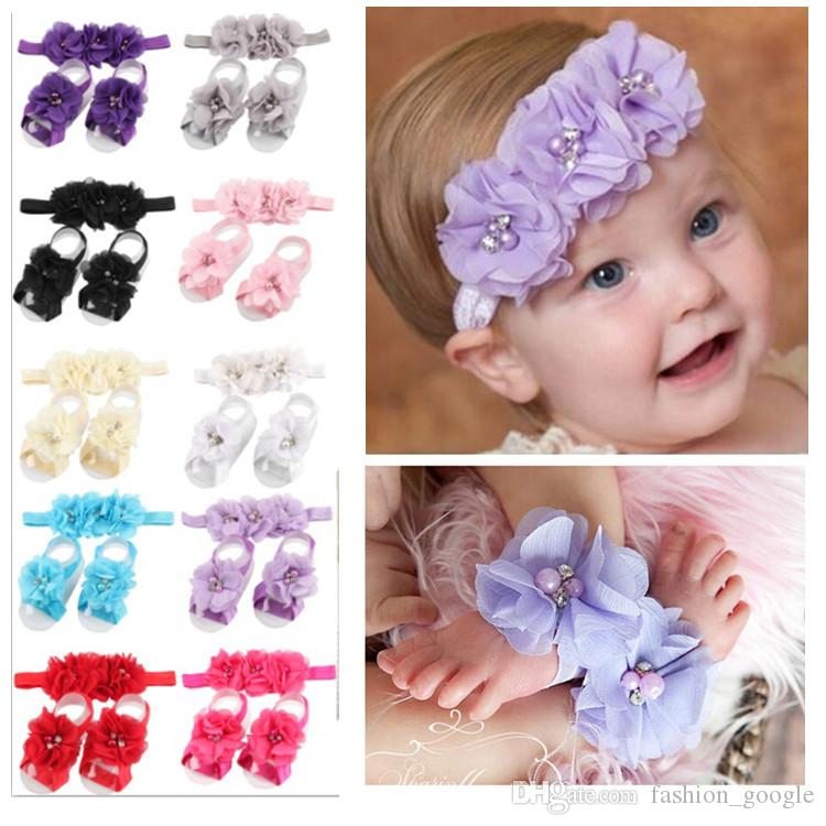 Baby Girl Hairband Headband Flowers Wedding Christening Birthday Party