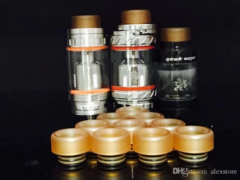 PEI 810 Drip tip with Rubber O Ring Wide Bore For Prince TFV8 Kennedy 24 RDA Goon 528 Vape Mouthpiece 810 Atomizer