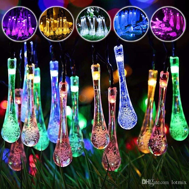 7m LED Luz de Hadas Energía Solar 50 LED String Light Multicolor Boda Fiesta de Navidad Decoración Iluminación Exterior Jardín Impermeable