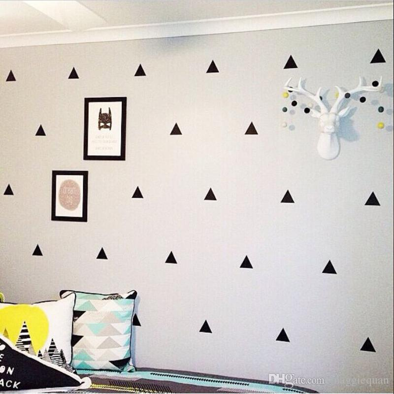 Triangle Wall Stickers Removable Wall Decals Nursery Decor Wall Art on curtain wall design, exterior home wall design, mid century modern wall design, inspirational wall design, modern interior wall design, handmade wall design, quilting wall design, rustic log cabin wall design, decorating idea wall design,