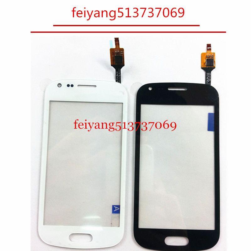 DHL EMS tarafından Duos ile Samsung Trend Plus, s7580 s7582 Siyah beyaz renkli Dokunmatik Ekran Digitizer için 20pcs Orijinal