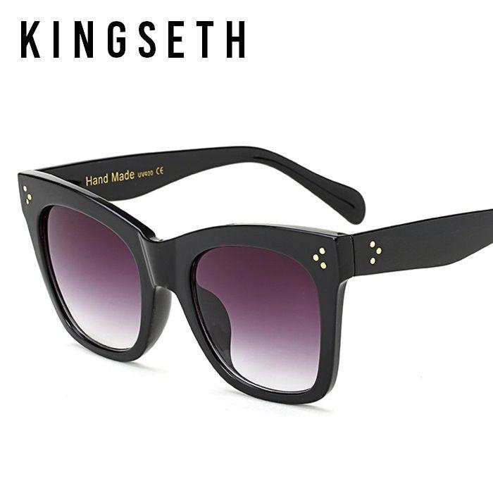 KINGSETH 2020 Yeni Geliş Yüksek Kalite Büyük Kedi Göz Kadınlar Güneş gözlüğü Moda Klasik Erkekler Güneş Gözlükleri Cateye Gözlük UV400